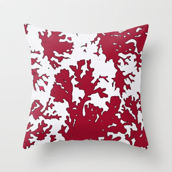 Throw Pillows With Red Coral : Red Coral Reef Throw Pillow by Saundra Myles Society6