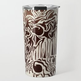 Fire in the City Ink Doodle Travel Mug