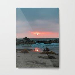Sunset at Venice Beach Metal Print