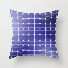 In charge / 3D render of solar panel texture Throw Pillow