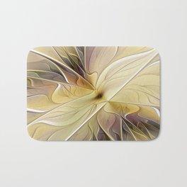 Floral Beauty, Abstract Fractal Art Flower Bath Mat