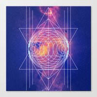 sacred geometry Canvas Prints featuring Sacred Geometry by AC DESIGNS