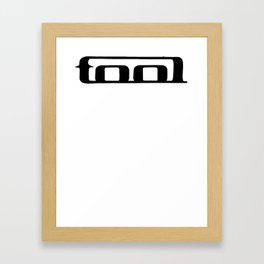 Tool band clean logo Framed Art Print