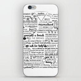 modern mamafesto  iPhone Skin