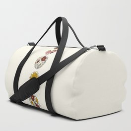 Floral Phases of the Moon Duffle Bag