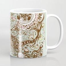 Zentangle green flower roots doodle Mug