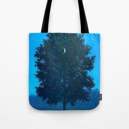 Rene Magritte - Le Seize Septembre - 1956 Moon Through Tree Surrealism Tote Bag