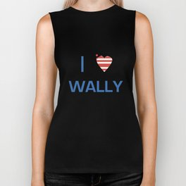 I Heart Wally Biker Tank