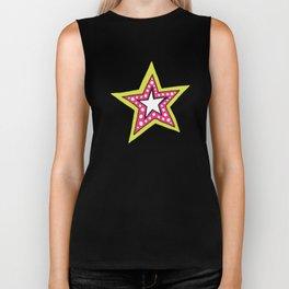 bright fun star Biker Tank
