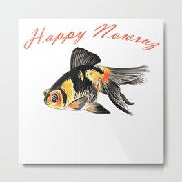 Happy Nowruz Demekin Goldfish Persian New Year Metal Print