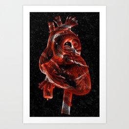 Vintage Rose Heart Art Print