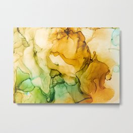 Turning Fall  - Abstract Ink Painting Metal Print