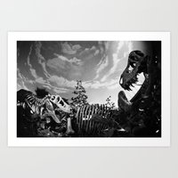 dinosaur Art Prints featuring Dinosaur by Jo Bekah Photography