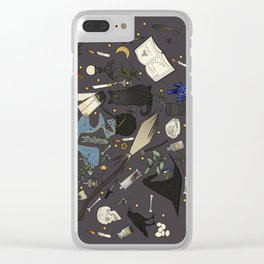 Witch's things Clear iPhone Case