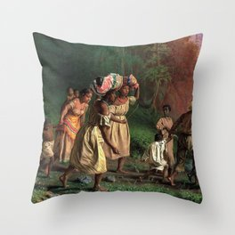 African American Masterpiece 'Emancipation or On to Liberty' by Theodor Kaufmann Throw Pillow