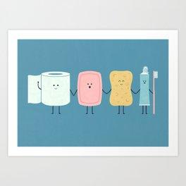 The Bathroom Gang Art Print