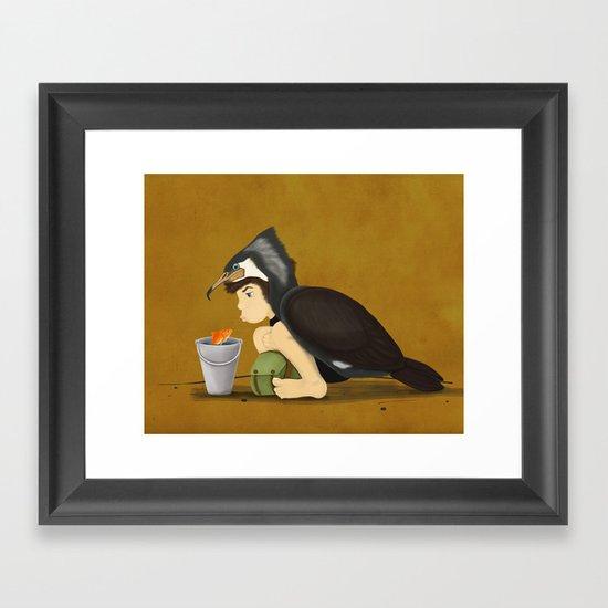 Little Black Cormorant Framed Art Print