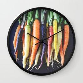 Heirloom Carrots Wall Clock