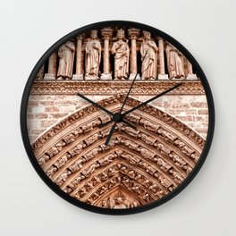 Notre Dame Mural Wall Clock
