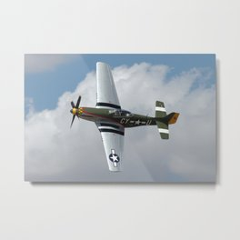 P-51 Fly By Metal Print