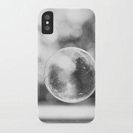 Black and White Bubble Photography, Grey Laundry Art, Gray Bathroom Decor,Bubbles Laundry Room Photo iPhone Case