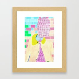 Brick Man Framed Art Print