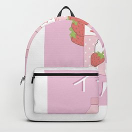 Japanese Milk Carton design Gift Strawberry milkshake graphic Backpack