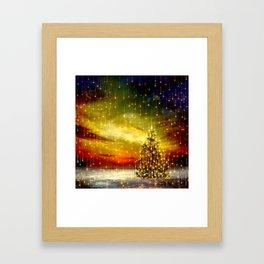 A Christmas Night Framed Art Print