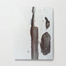 White Peel Metal Print