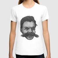 nietzsche T-shirts featuring Super Mustache by Zach Wheeler