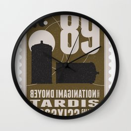 Bonus: Beyond imagination: TARDIS postage stamp Wall Clock