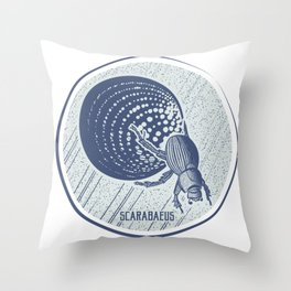 Insect's badge. Scarabaeus. Throw Pillow