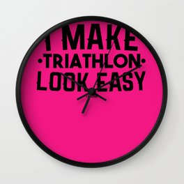 Triathlon Sport fun marathon gift Wall Clock