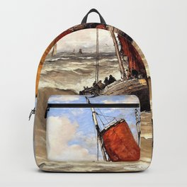 Hendrik Willem Mesdag - Back from the fishing trip - Digital Remastered Edition Backpack