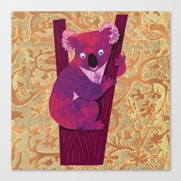 Koala bear in tree - illustration Canvas Print