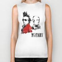 mozart Biker Tanks featuring Mozart Punk by viva la revolucion