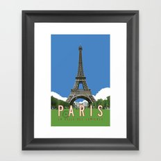 Paris Travel Poster - Vintage Style Framed Art Print