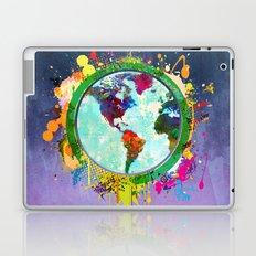 World Map of Splattered Paint Laptop & iPad Skin