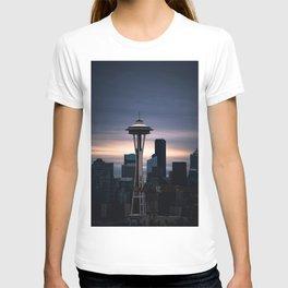 Space Needle Sunset - Seattle Nights T-shirt