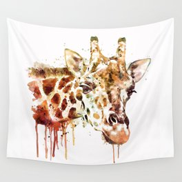 Giraffe Head Wall Tapestry