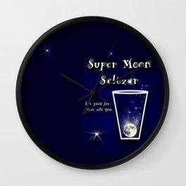 Super Moon Seltzer  Wall Clock