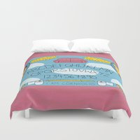 ouija Duvet Covers featuring Beavis and Ouija Board by Brieana