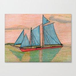 Blue Sail Canvas Print