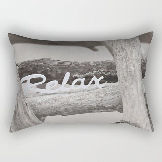 Relax driftwood summer beach Rectangular Pillow