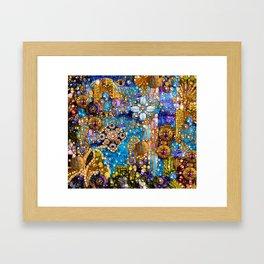 Gold, Glitter, Gems and Sparkles Framed Art Print