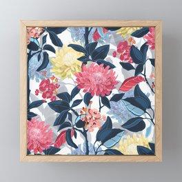Watercolor Farmhouse Flowers Framed Mini Art Print