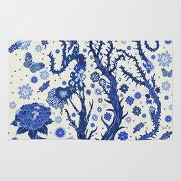 Blue flora Rug