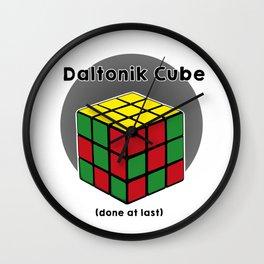 Daltoniks cube Wall Clock
