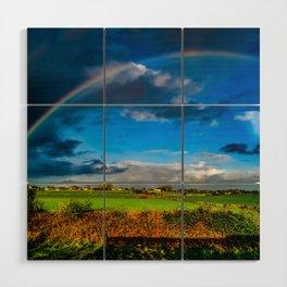 Rainbow over Ireland Wood Wall Art