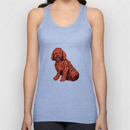 Labradoodle Illustration Unisex Tank Top